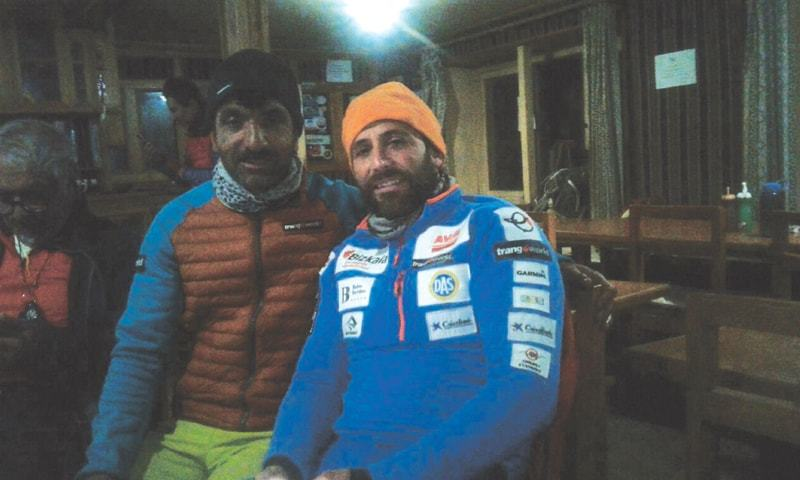 MOUNTAINEER Mohammad Ali Sadpara (left) a day before his trek to Mount Everest.