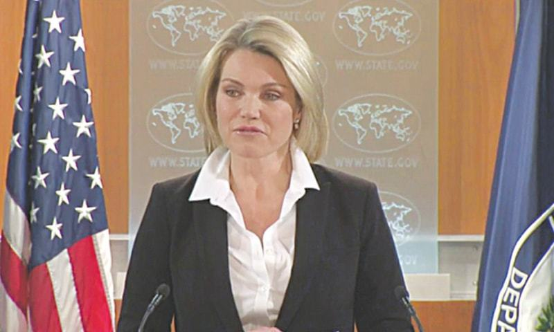 US STATE Department spokesperson Heather Nauert avoids using the 'do more' phrase.