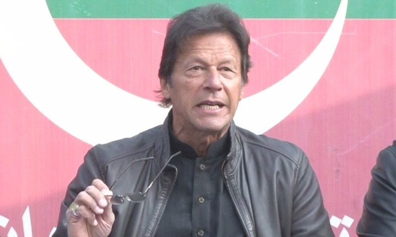 Sharifs reached out to the Americans for personal gains, Imran says at press conference in Islamabad. —DawnNews