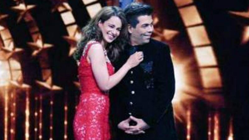 Karan Johar and Kangana Ranaut share the stage on India's Next Superstar.