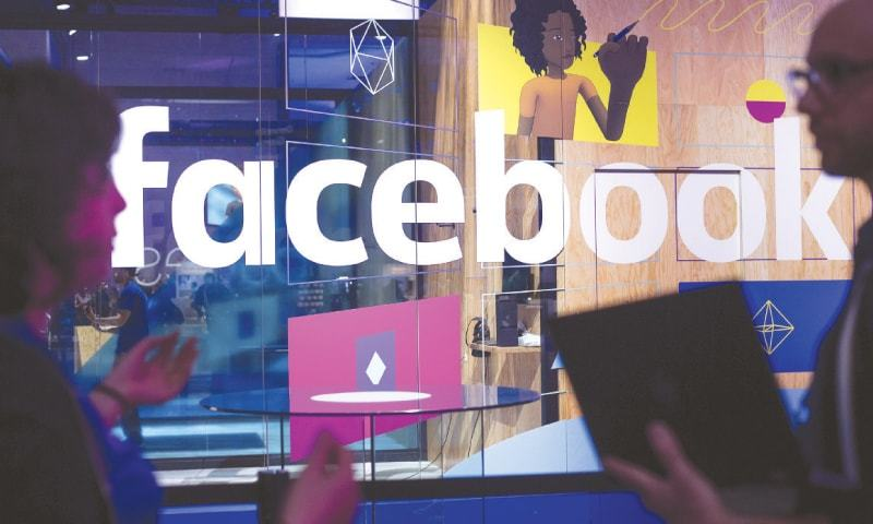 A DEMO booth pictured at Facebook's annual F8 Developer Conference held last year in San Jose, California.—AP