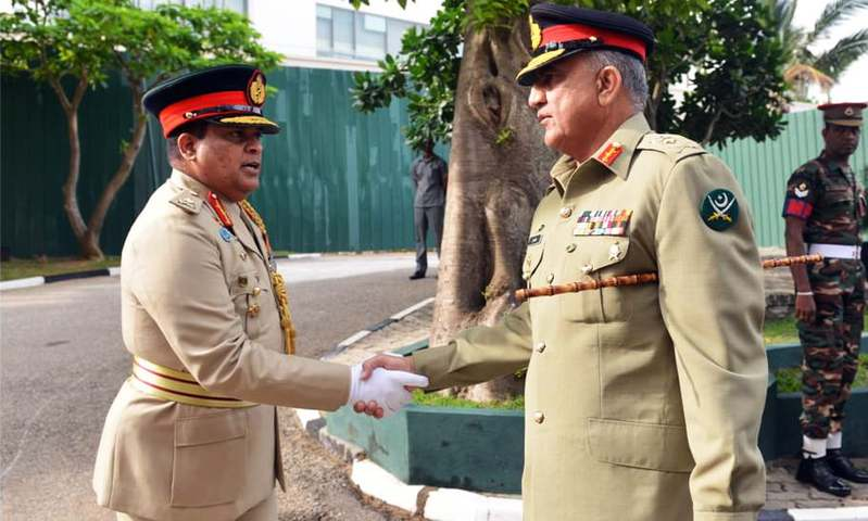 Gen Bajwa met the chief of defence staff and chiefs of all three services. —ISPR