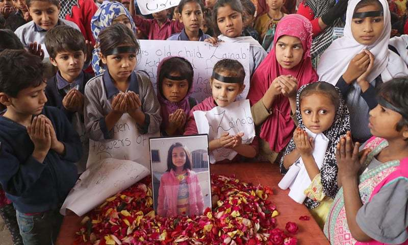 Children in Karachi offer prayers for Zainab Ansari, who was raped and murdered in Kasur | OINN