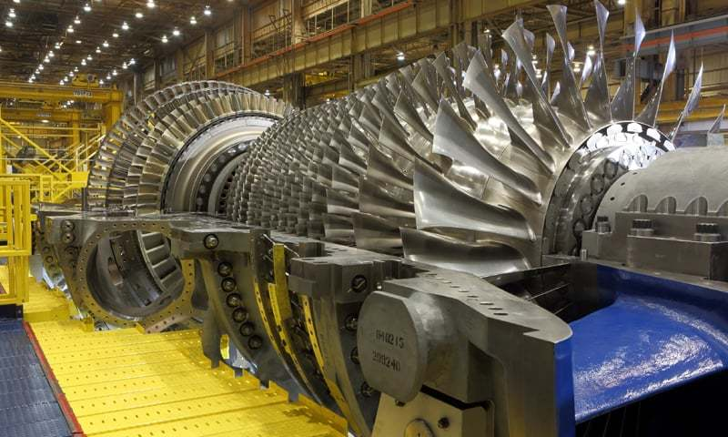 GE claims its state-of-the-art turbines are highly fuel-efficient and long-lasting. They are being installed in three power plants in Punjab under the CPEC framework.