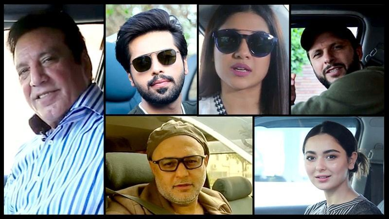 Fahad Mustafa, Hania Aamir, Ali Azmat, Javed Shiekh and Sanam Jung are few of the many who have come out to support