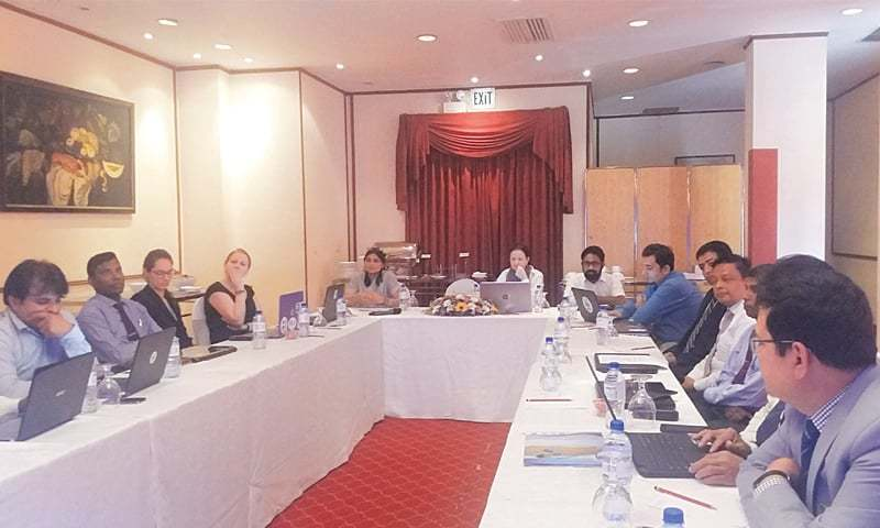 Experts representing Pakistan, India, Bangladesh, Sri Lanka and the Maldives participate in the meeting recently held in Colombo, Sri Lanka.