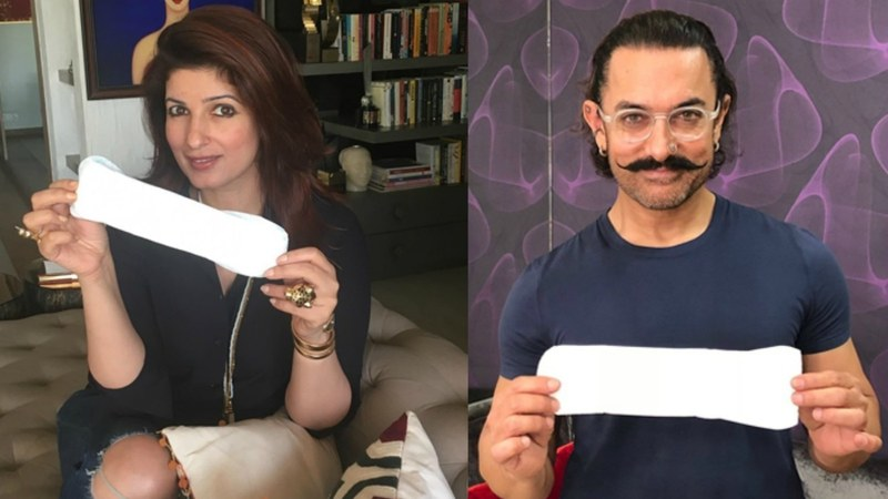 Bollywood actors are taking part in the Padman challenge