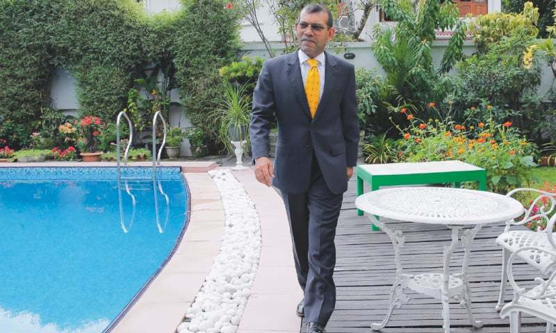 Colombo: Former Maldives President Mohamed Nasheed poses for a photo following an interview with news agency on Friday.—AP