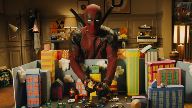 The trailer is action packed and crass and just as crazy as you'd want a Deadpool movie to be like.