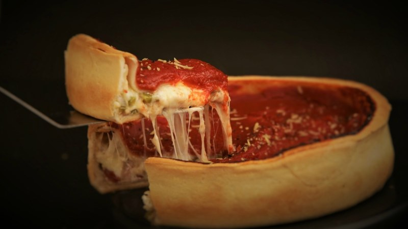 For the novice, the deep dish pizza might look less like a pizza and more like a bread bowl, but trust me, it's not.