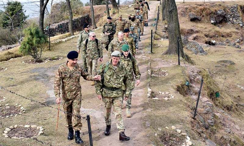 THE defence attaches of the US, the UK, France, China, Turkey and Indonesia visit the Line of Control in Rawalakot Sector of Azad Jammu and Kashmir  on Friday.—INP