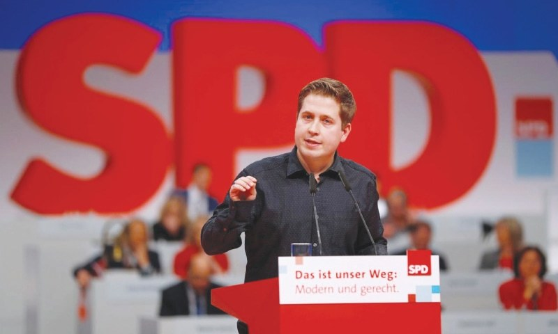 Germany's Social Democrats back coalition with Merkel