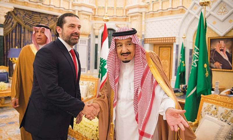 Lebanon's Hariri and Saudi King share 'firm handshake' after resignation scandal