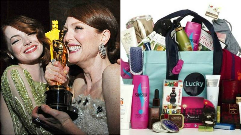 The goody bag is an Academy Awards tradition that involves handing out very expensive gifts to extremely wealthy people