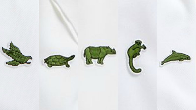 81adf5a4a9e3 Lacoste is replacing their iconic crocodile with 10 endangered species -  Style - Images