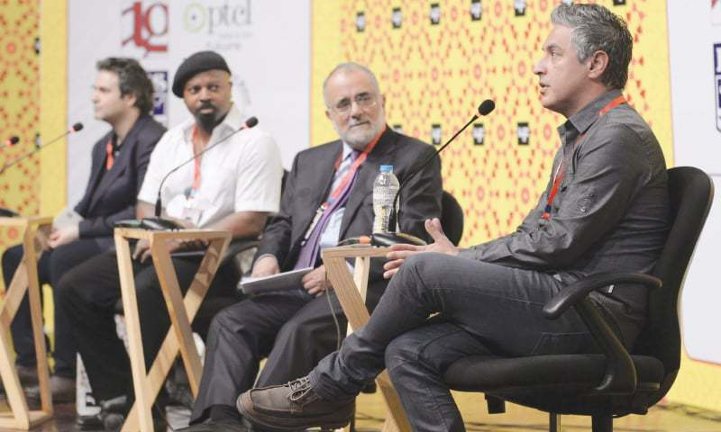 The session featuring Reza Aslan and Ben Okri drew a packed crowd, but many other sessions were not heavily attended | White Star/Murtaza Ali