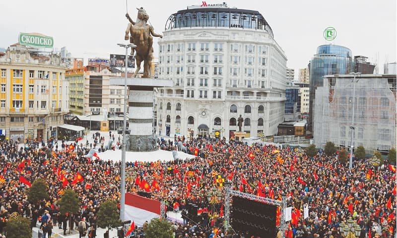 Thousands of Macedonians Rally Worldwide Over Name Dispute With Greece