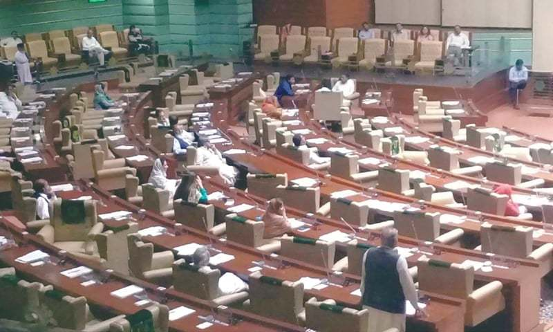 NUMEROUS seats are empty during Monday's assembly session, indicating the lawmakers' lack of interest in the business of the house.—PPI