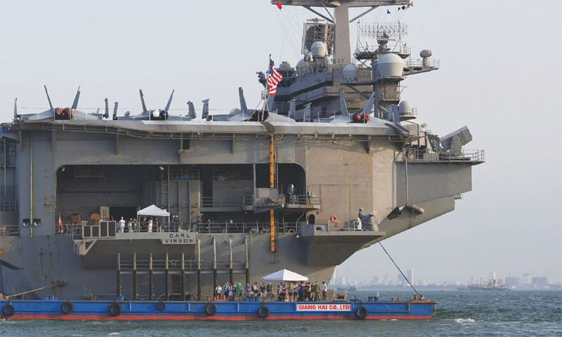 U.S. aircraft carrier in Vietnam for the first time since the war