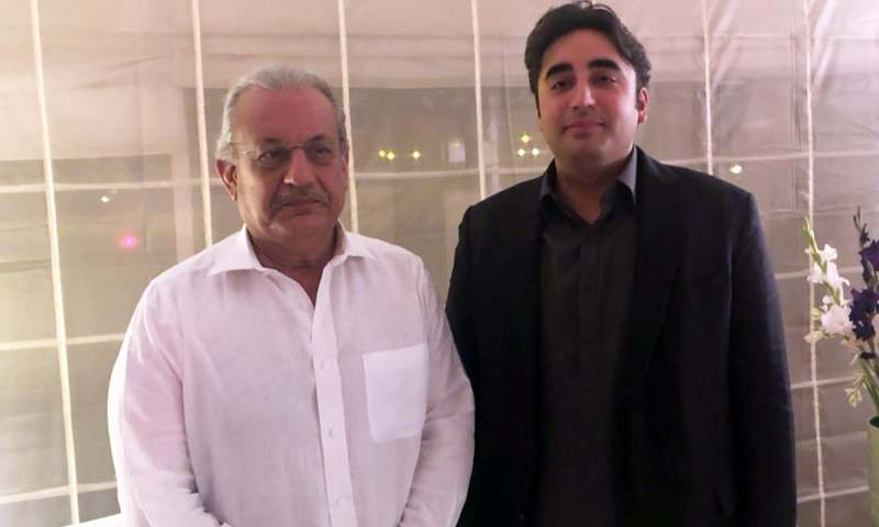 Raza Rabbani assures PPP Chairman Bilawal that he will continue to play an active role in party politics. —photo provided by author