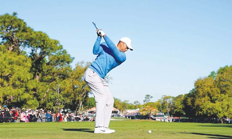 u2018good day u2019 leaves woods two strokes off lead at valspar - newspaper