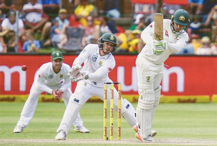 Rabada strikes late after De Villiers ton leaves Australia in trouble