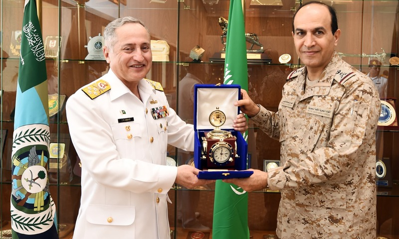 Admiral Abbasi is on an official visit to Kingdom of Saudi Arabia on the invitation of Commander Royal Saudi Naval Forces. —Navy PR