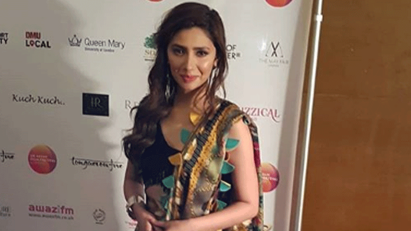 The Pakistani star gave a short speech and dedicated her award to her son, Azlan.