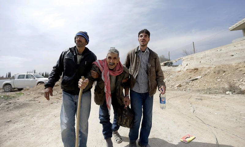 Thousands Flee Syria Rebel Enclave After Month Long Bombardment