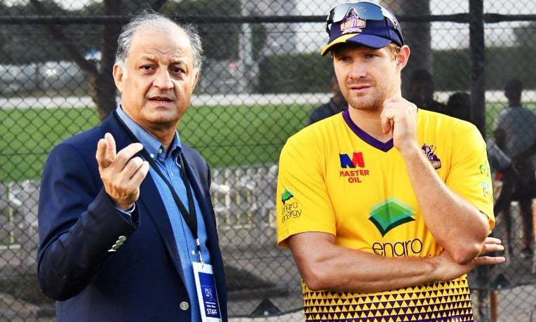 """Shane Watson had earlier committed he will travel to Pakistan, but [he] backed off at last minute,"" says Omer Nadeem. —photo courtesy Omer Nadeem's Twitter"