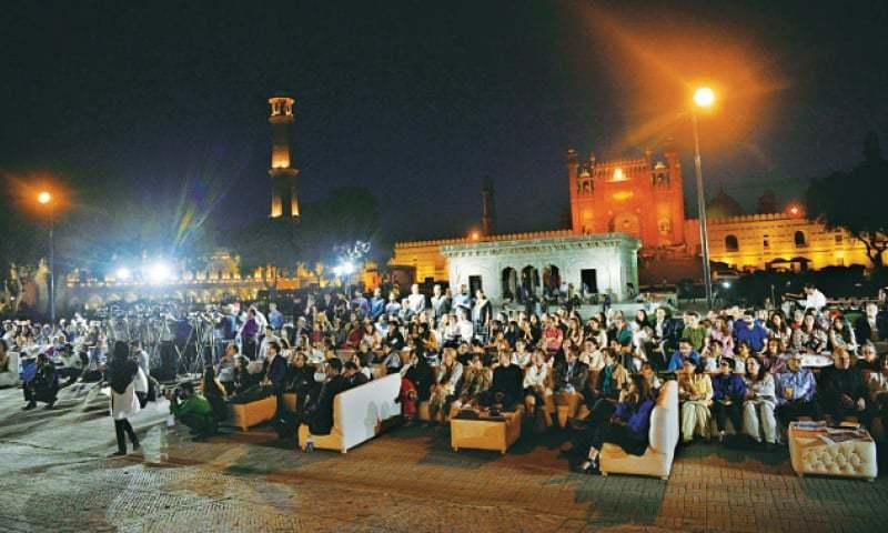 Audience at Lahore Biennale at Hazoori Bagh. — White Star