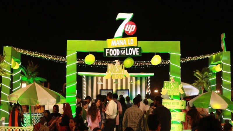 Event highlights include live cooking, celeb spotting, upbeat music performances, traditional 7Up blends and lots of fun