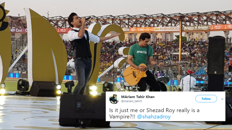 Roy performed at the PSL final last night at National Stadium in Karachi.