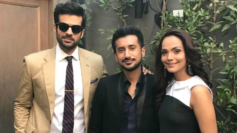 L-R: Adnan Malik, Asim Abbasi and Aamina Sheikh