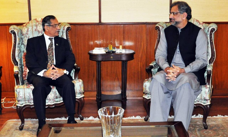 PM Abbasi vows to assist CJP Nisar in 'revamping judicial system of Pakistan'