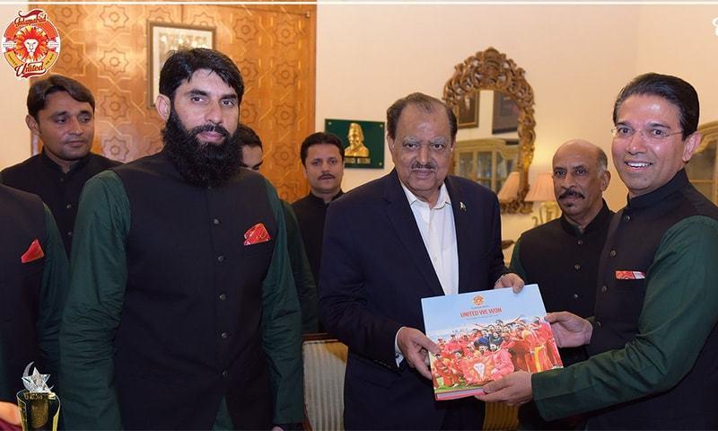 ُپی ایس ایل چیمپیئن اسلام آباد یونائیٹڈ کی صدر مملکت سے ملاقات