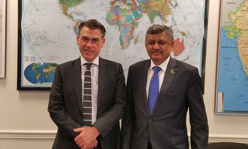 Secretary Commerce Younus Dagha with US Trade Representative Mark Linscott in Washington.