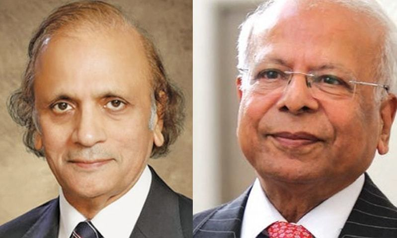 Retired Justice Tassaduq Hussain Jillani (left) and Dr Ishrat Hussain (right) are among the PTI's nominees for caretaker prime minister.