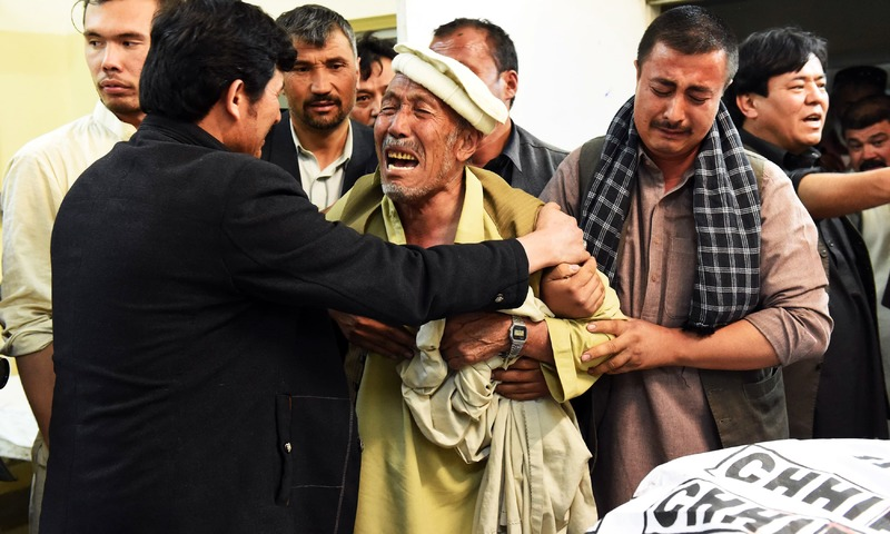 An elderly man mourns the death of his son in a deadly shooting incident in Quetta. —AFP