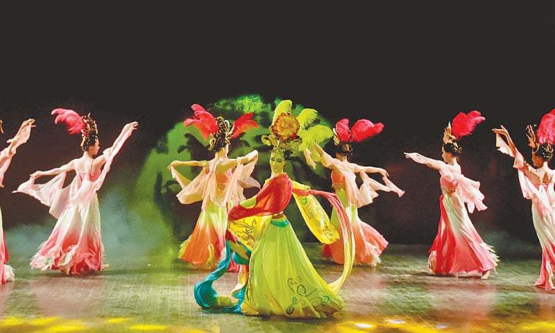 The performance, The Feather Dress Dance, by the Baoji Art Theatre Company on Sunday night. — Fahim Siddiqi / White Star