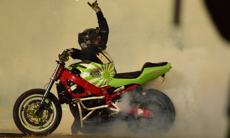 The star-studded stunt show took place in the Moin Khan Academy this weekend
