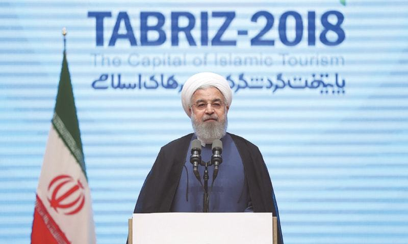 Tabriz: President Hassan Rouhani speaks during a press conference on Wednesday.—AP