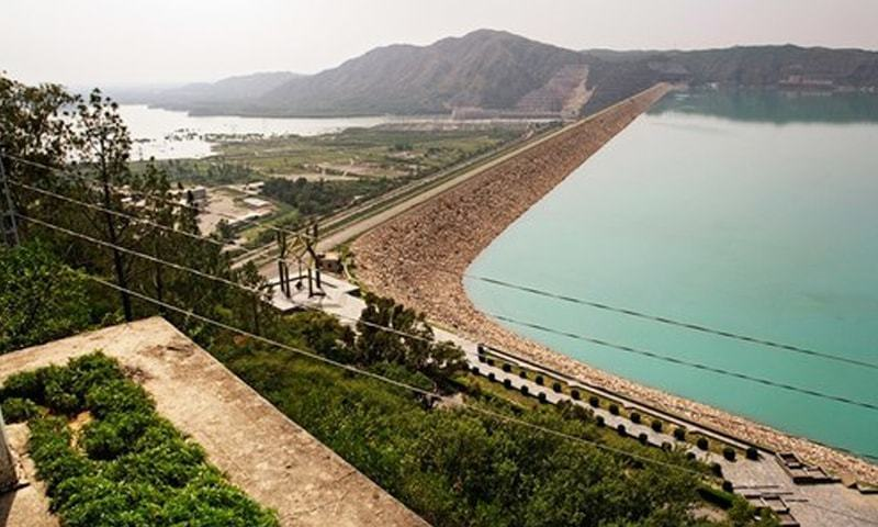 File photo of the lake of Tarbela dam. Water inflows usually start by April but this year has seen alarmingly low levels of water coming in.