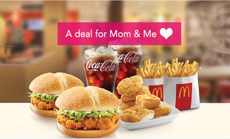 The McDonald's deal is available on foodpanda for Rs750