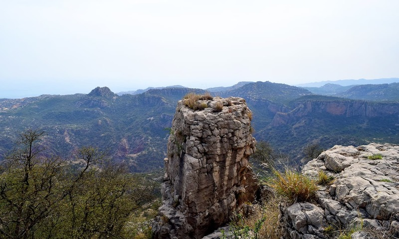 The rolling mountains of Soan valleyThe vertical drop and natural fortress