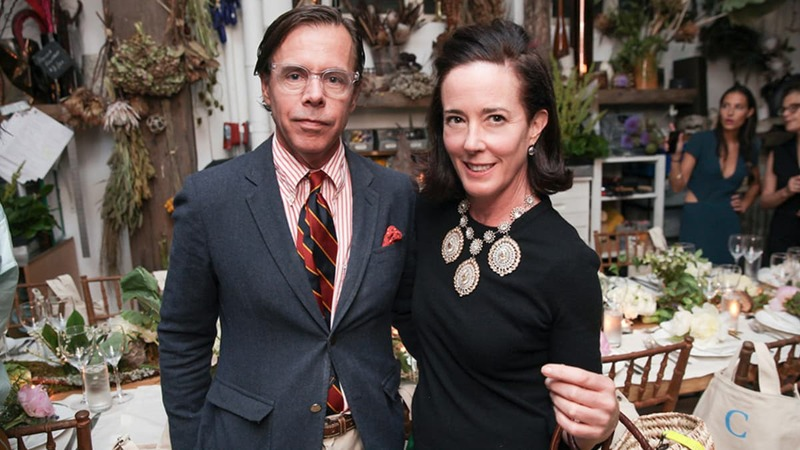 Kate (right), pictured with Andy Spade (left) committed suicide in her New York apartment on Tuesday --Photo courtesy: Variety