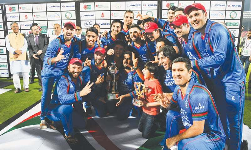 Afghanistan players' 'Naagin' dance after thrilling series win against Bangladesh