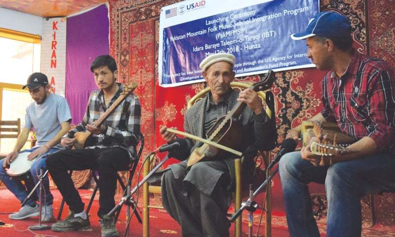 Musicians Ustad Amanullah, rubab player Fazlur Rehman, Shireen Sado and others | Photos by the writer