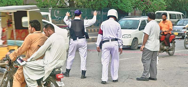 Managing traffic near Clifton Bridge, Karachi   Fahim Siddiqi/White Star