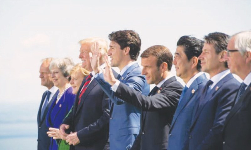 Trump remains isolated as G7 summit enters final day. In front of the cameras the G7 leaders struck a conciliatory tone
